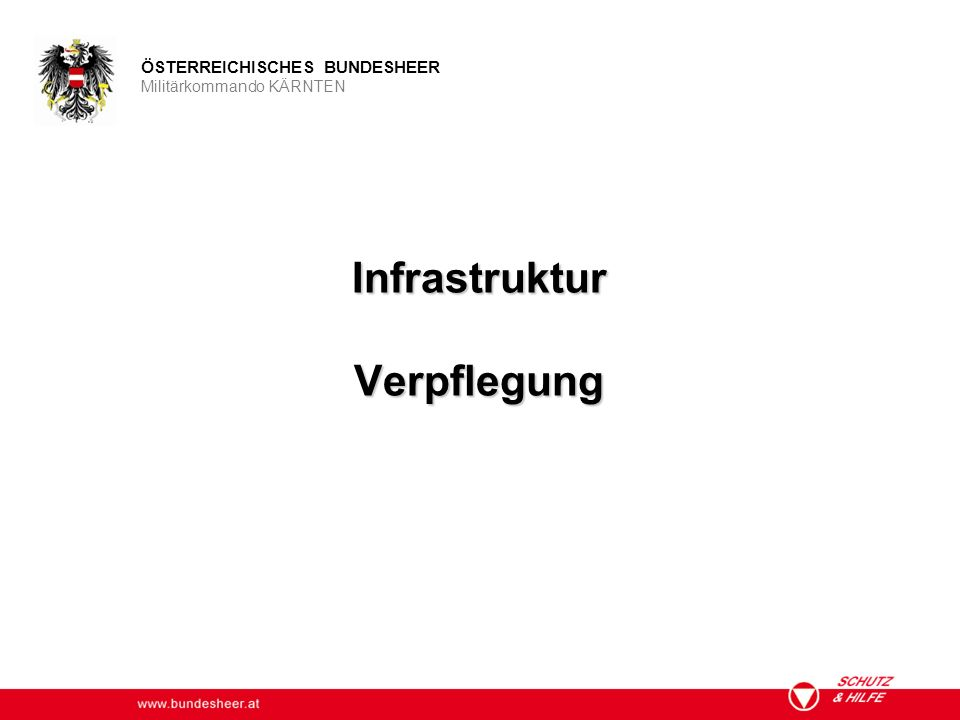 Infrastruktur Verpflegung