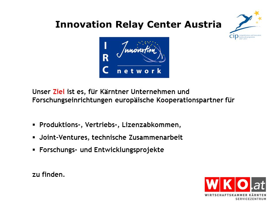 Innovation Relay Center Austria