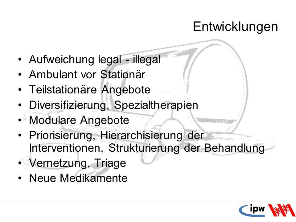 Entwicklungen Aufweichung legal - illegal Ambulant vor Stationär
