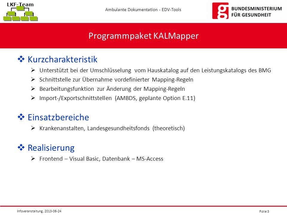 Programmpaket KALMapper