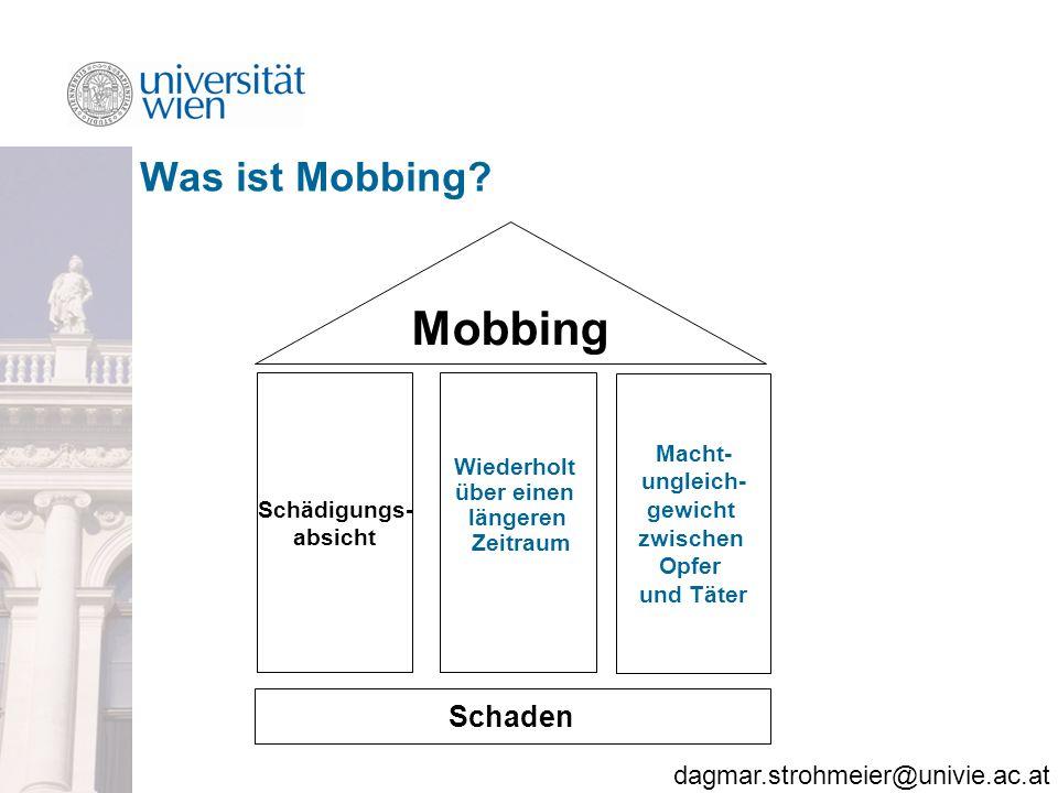 Mobbing Was ist Mobbing Schaden Schädigungs- absicht Wiederholt
