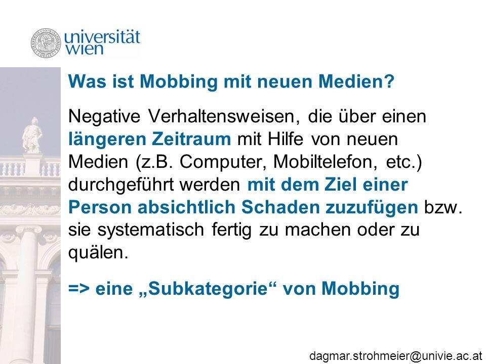 Was ist Mobbing mit neuen Medien