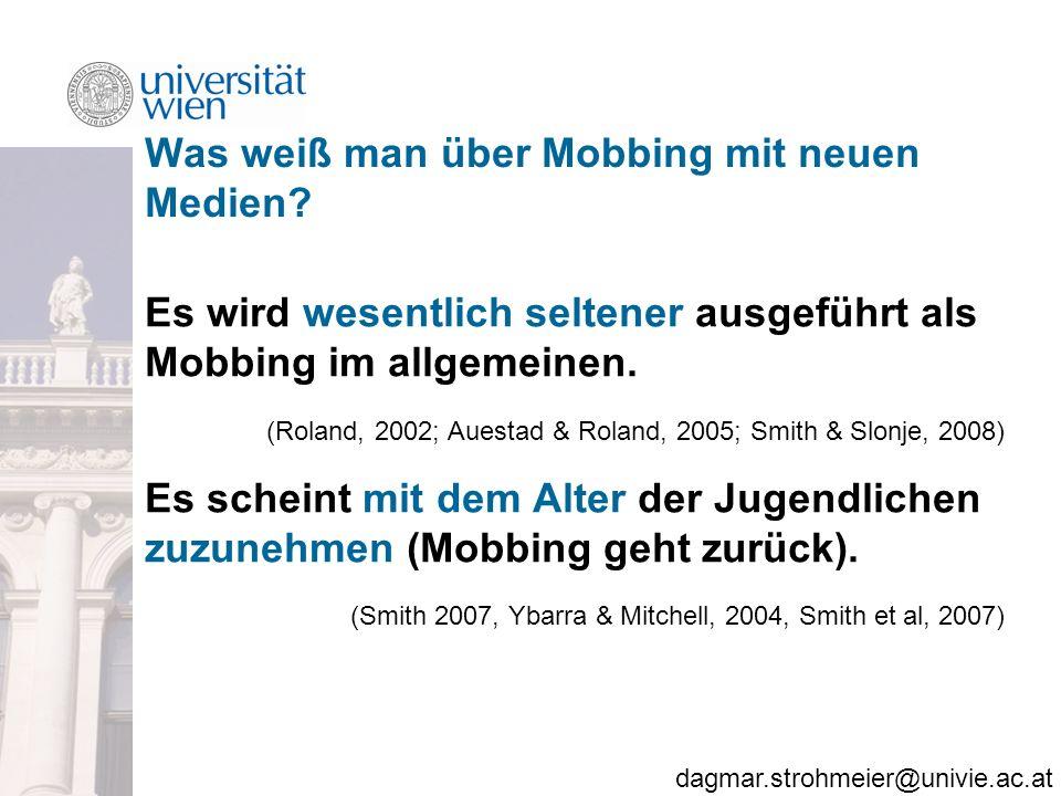 Was weiß man über Mobbing mit neuen Medien