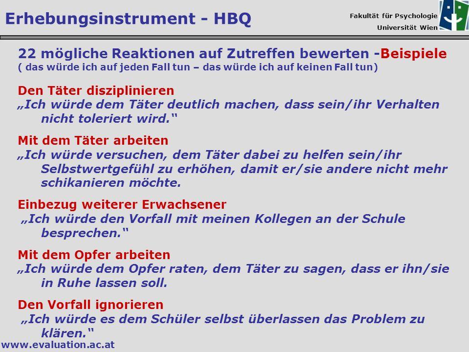 Erhebungsinstrument - HBQ