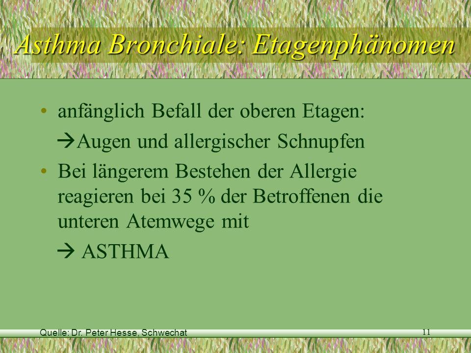 Asthma Bronchiale: Etagenphänomen