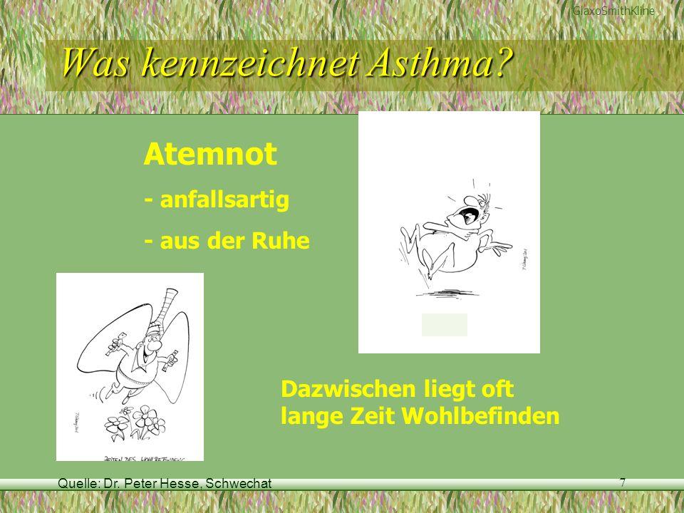 Was kennzeichnet Asthma