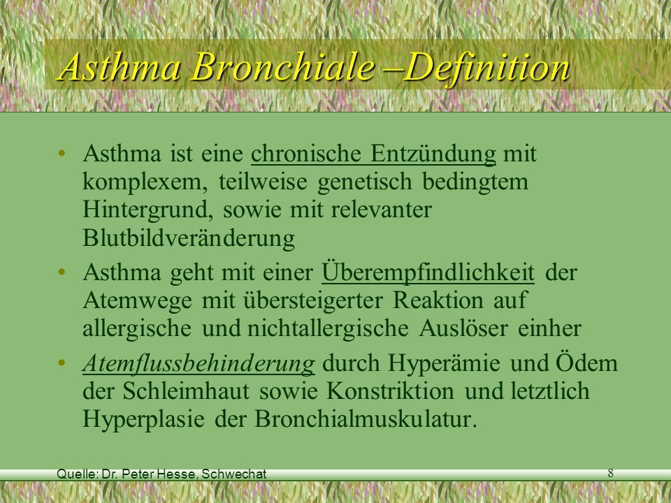 Asthma Bronchiale –Definition