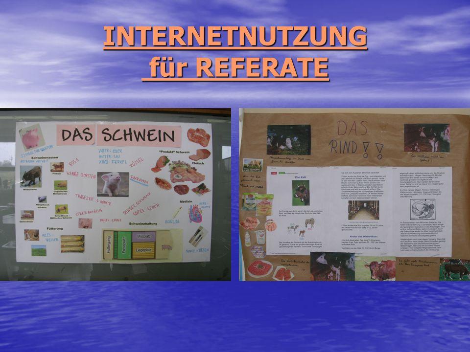 INTERNETNUTZUNG für REFERATE