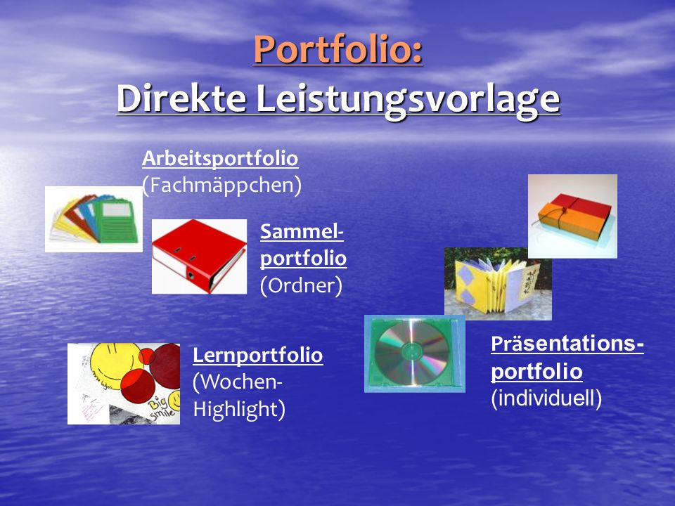 Portfolio: Direkte Leistungsvorlage