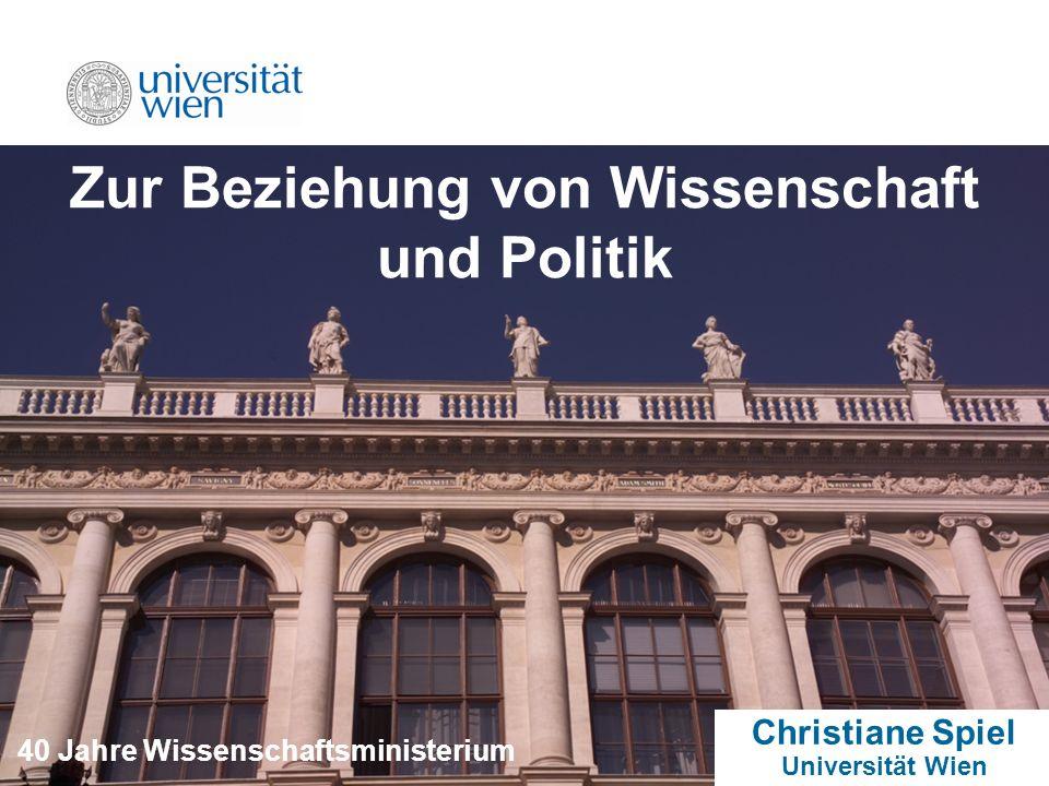 Zur Beziehung von Wissenschaft und Politik