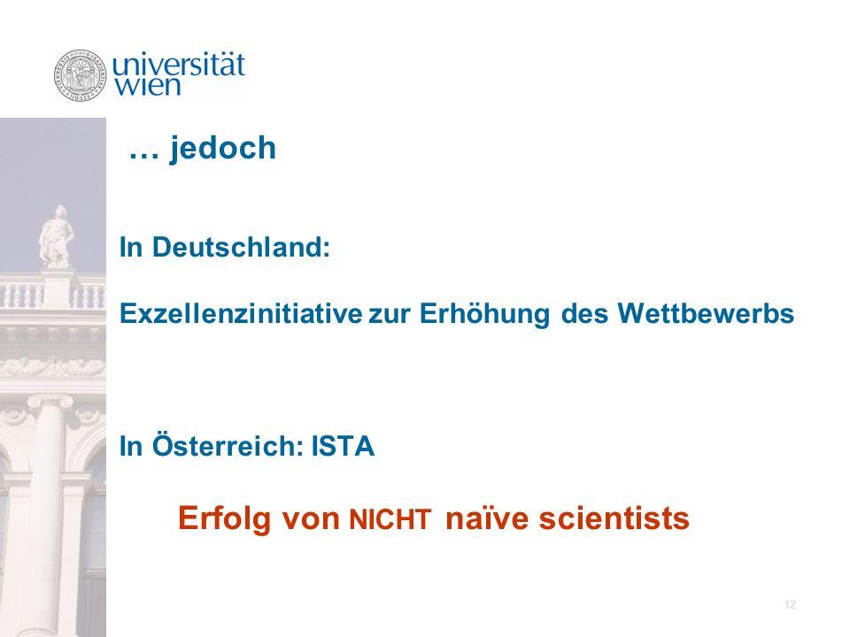 … jedoch In Deutschland: