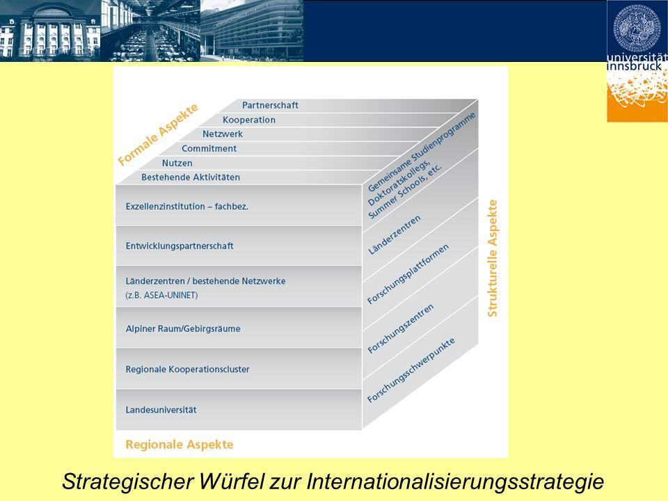 Strategischer Würfel zur Internationalisierungsstrategie