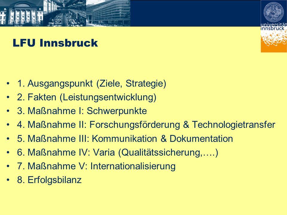 LFU Innsbruck 1. Ausgangspunkt (Ziele, Strategie)