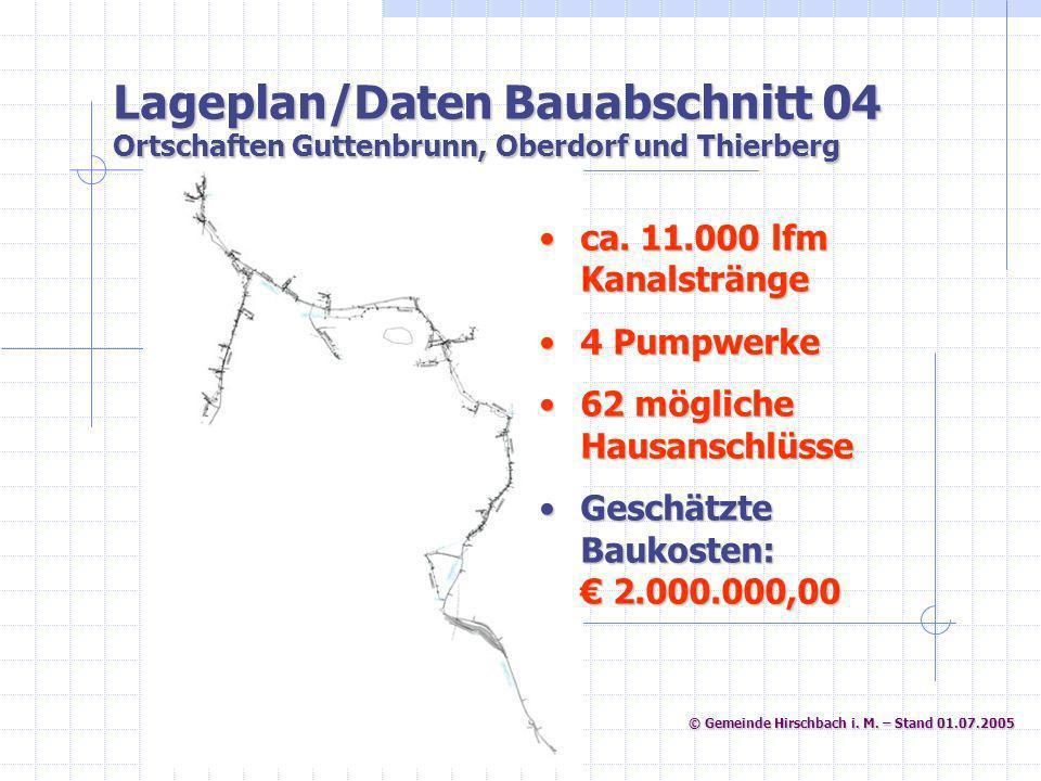 © Gemeinde Hirschbach i. M. – Stand 01.07.2005