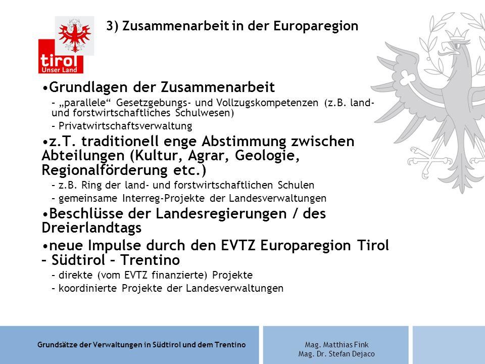 3) Zusammenarbeit in der Europaregion