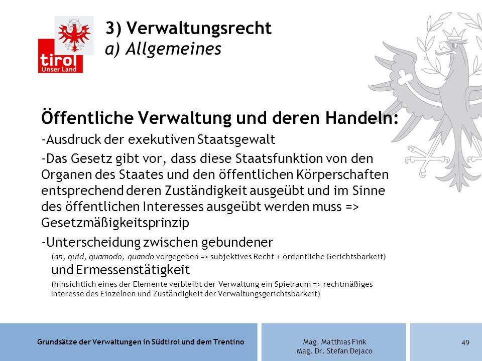 3) Verwaltungsrecht a) Allgemeines