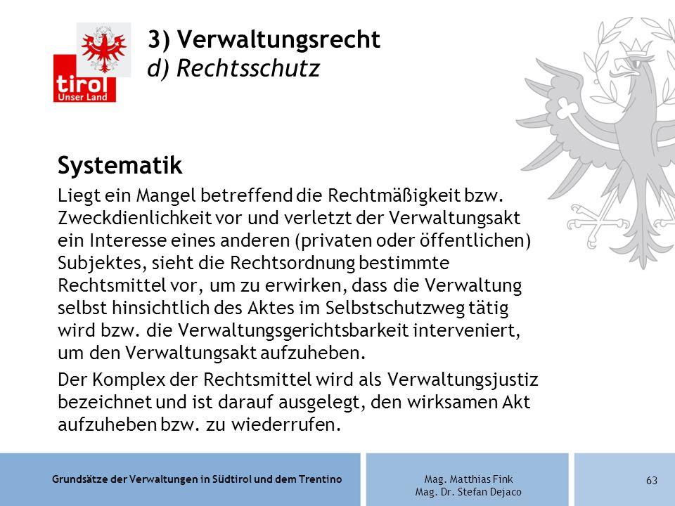 3) Verwaltungsrecht d) Rechtsschutz