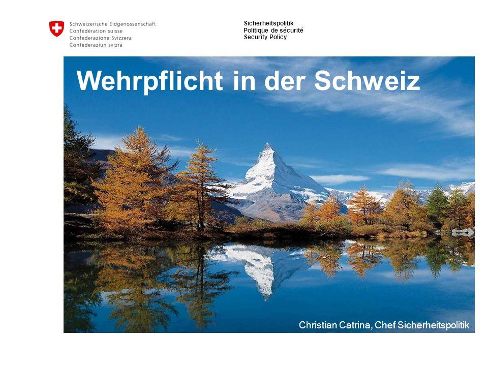 Wehrpflicht in der Schweiz