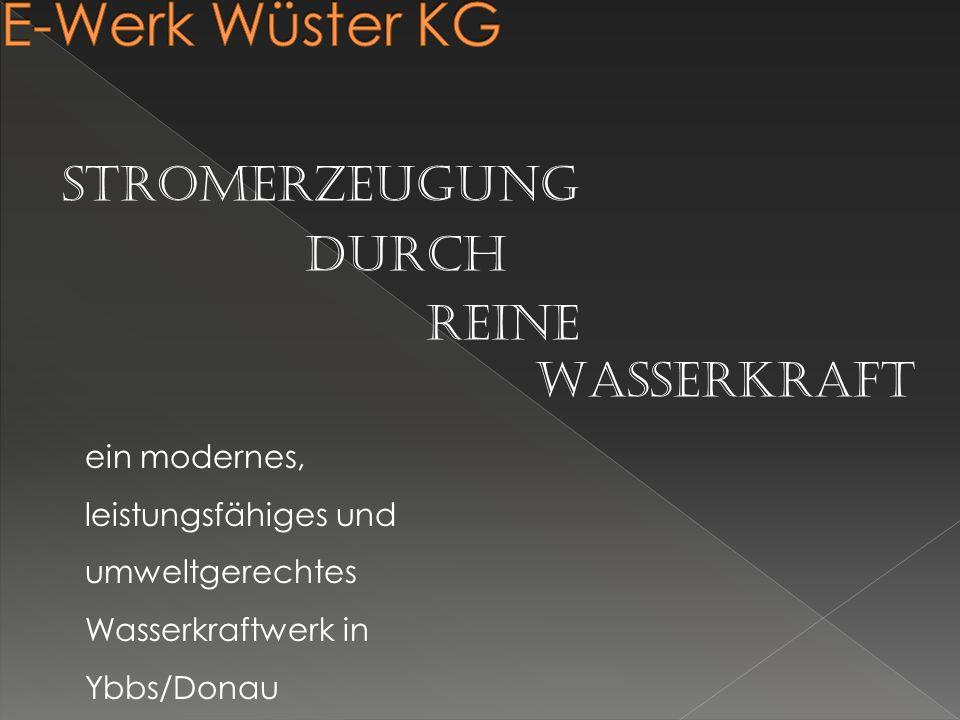E-Werk Wüster KG Stromerzeugung durch reine Wasserkraft