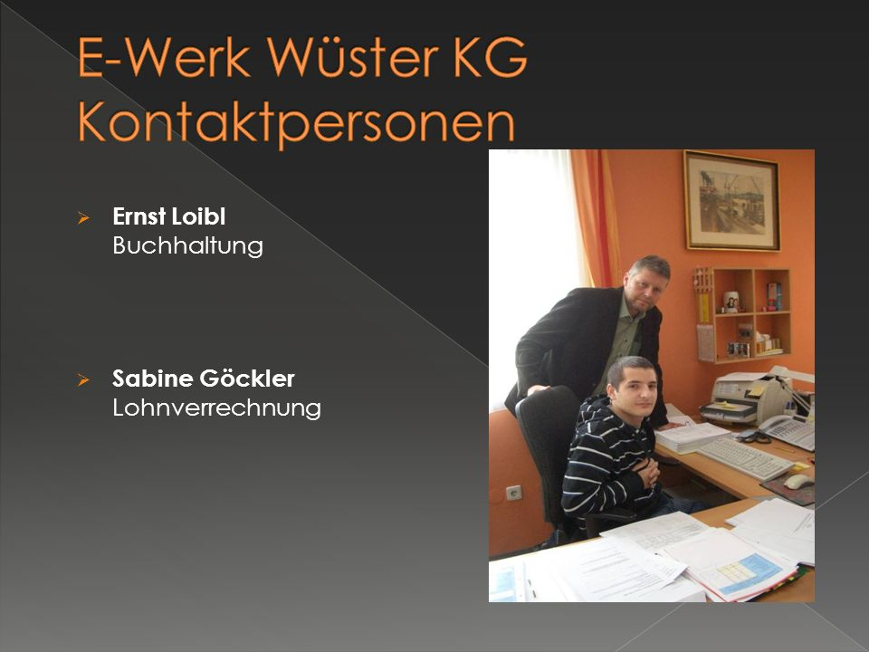 E-Werk Wüster KG Kontaktpersonen