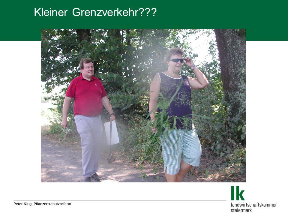 Kleiner Grenzverkehr Peter Klug, Pflanzenschutzreferat