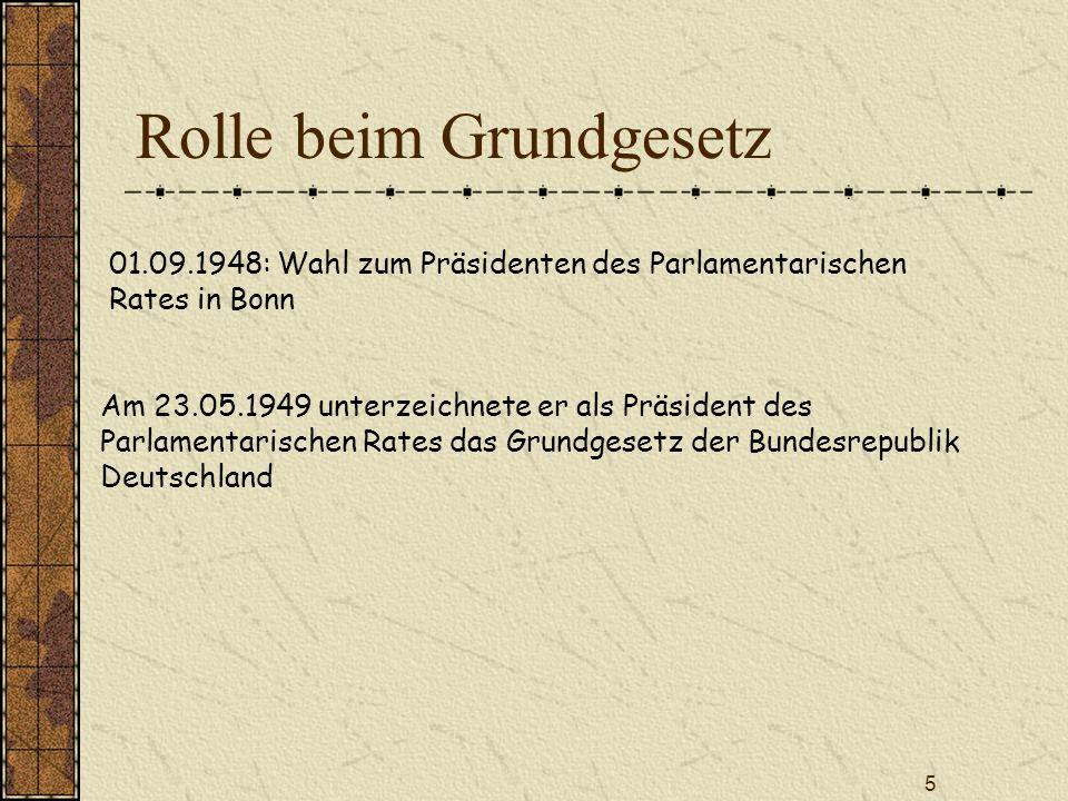 Rolle beim Grundgesetz