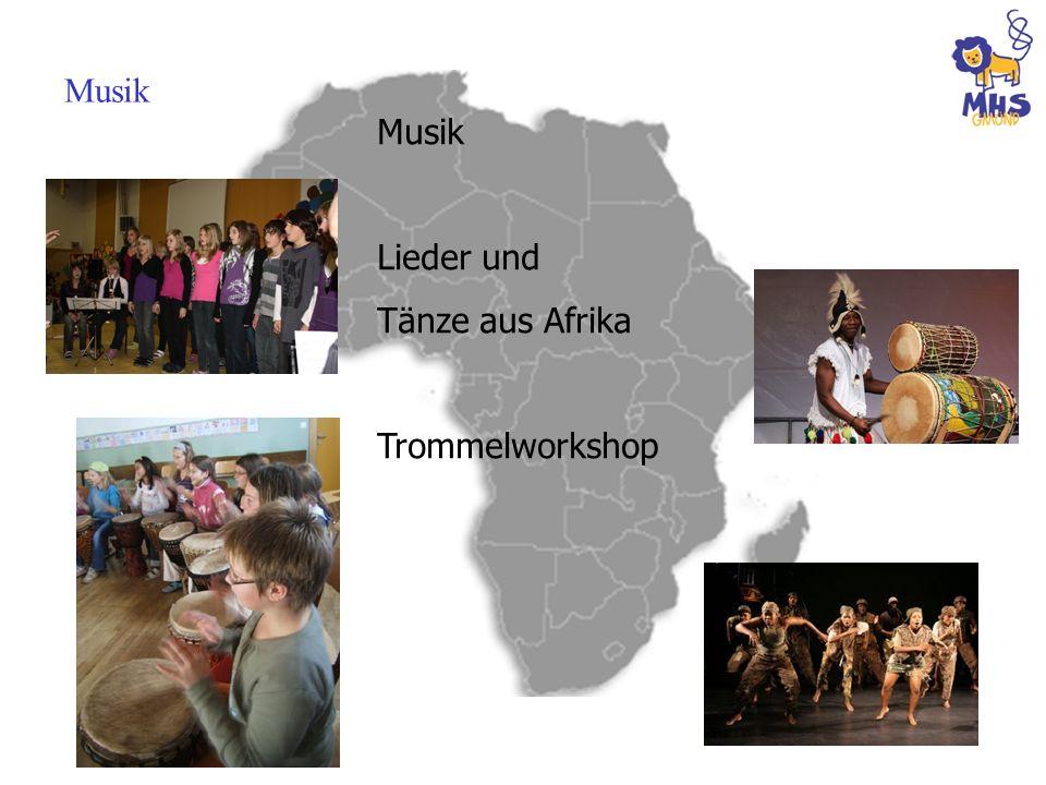 Musik Musik Lieder und Tänze aus Afrika Trommelworkshop