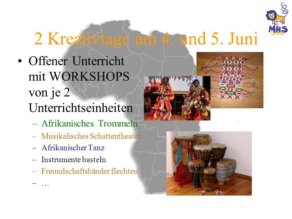 2 Kreativtage am 4. und 5. Juni