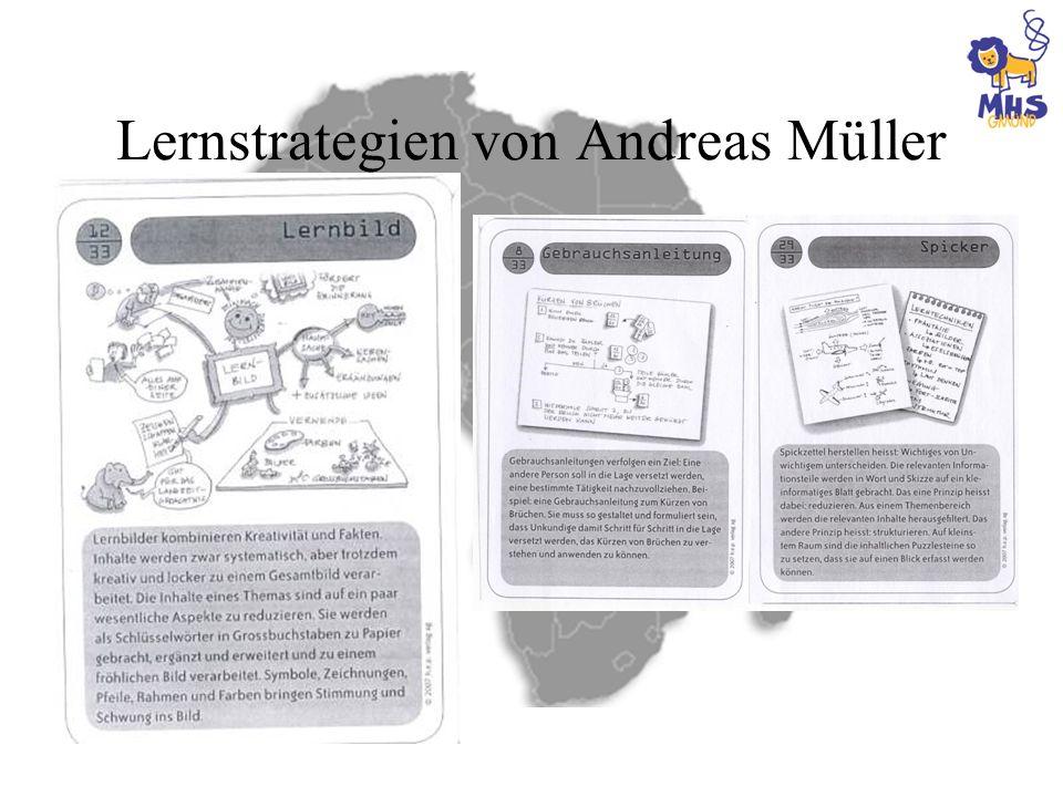 Lernstrategien von Andreas Müller