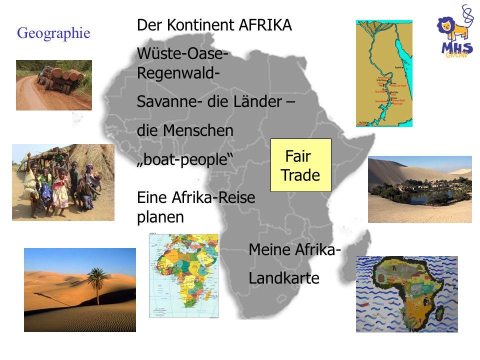 """Der Kontinent AFRIKA Wüste-Oase-Regenwald- Savanne- die Länder – die Menschen. """"boat-people Eine Afrika-Reise planen."""