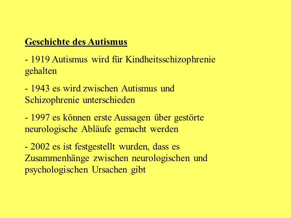 Geschichte des Autismus