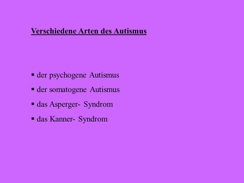 Verschiedene Arten des Autismus