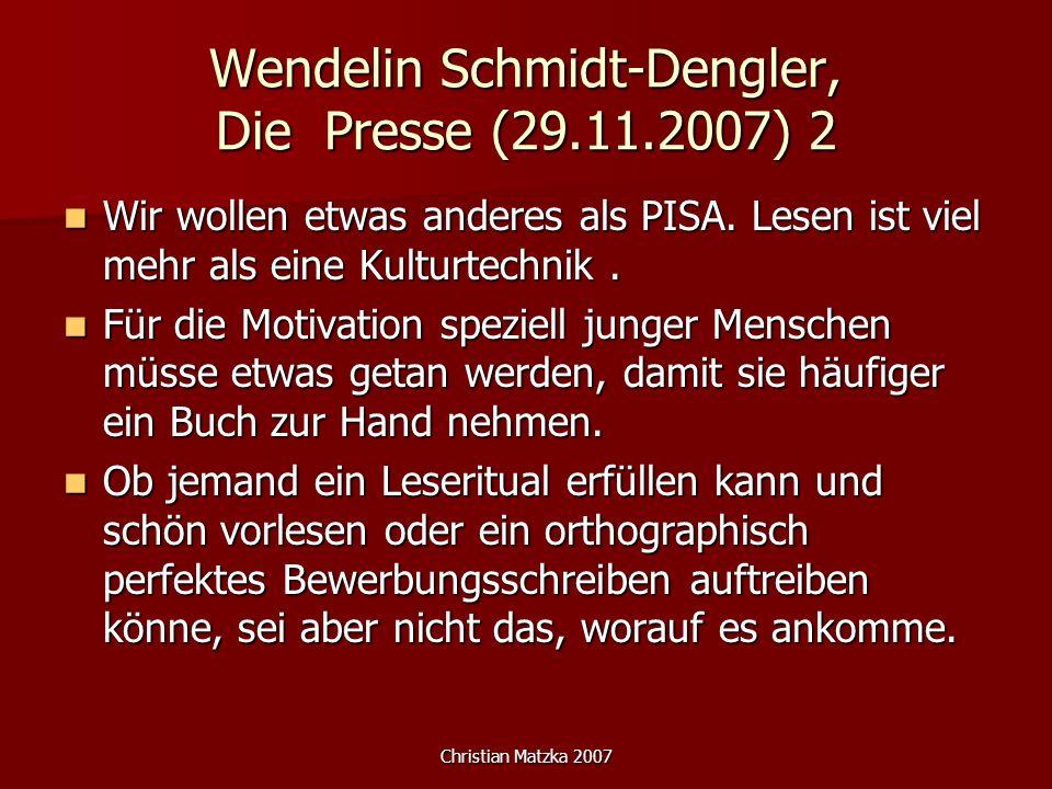 Wendelin Schmidt-Dengler, Die Presse (29.11.2007) 2