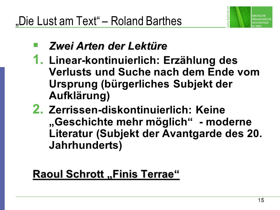 """Die Lust am Text – Roland Barthes"