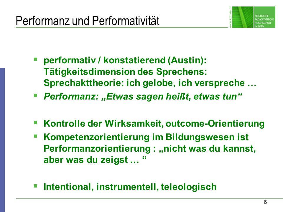 Performanz und Performativität
