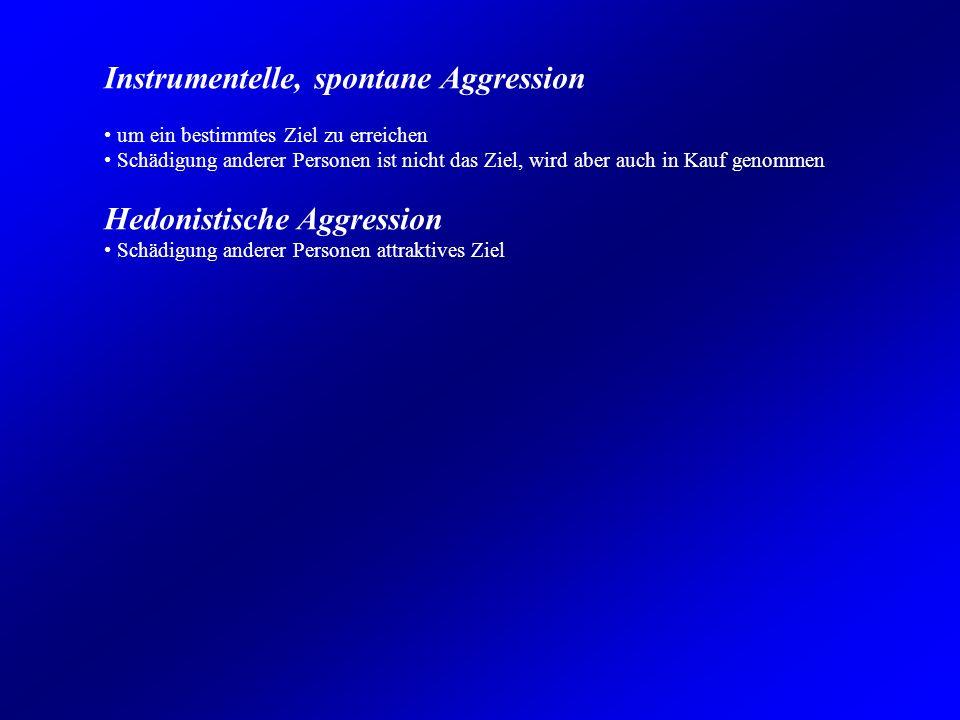 Instrumentelle, spontane Aggression