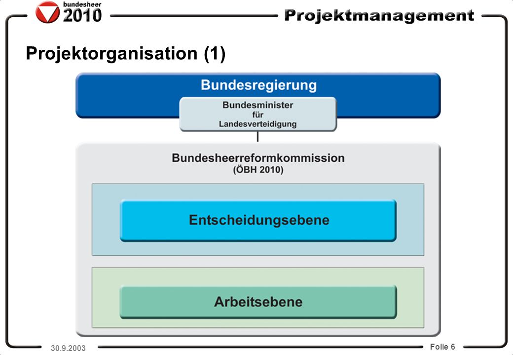 Projektorganisation (1)