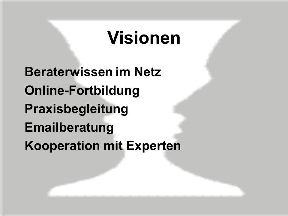 Visionen Beraterwissen im Netz Online-Fortbildung Praxisbegleitung