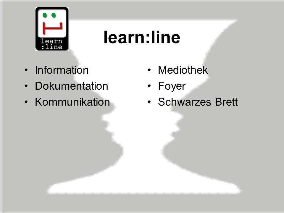 learn:line Information Dokumentation Kommunikation Mediothek Foyer