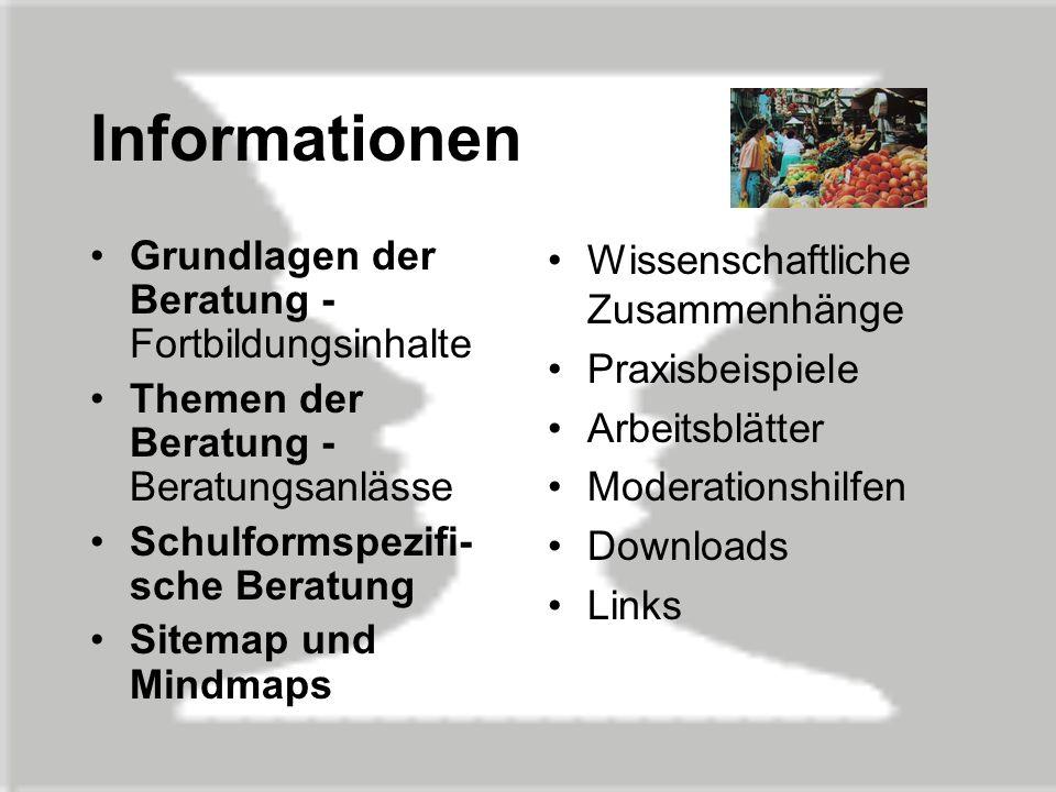 Informationen Grundlagen der Beratung - Fortbildungsinhalte