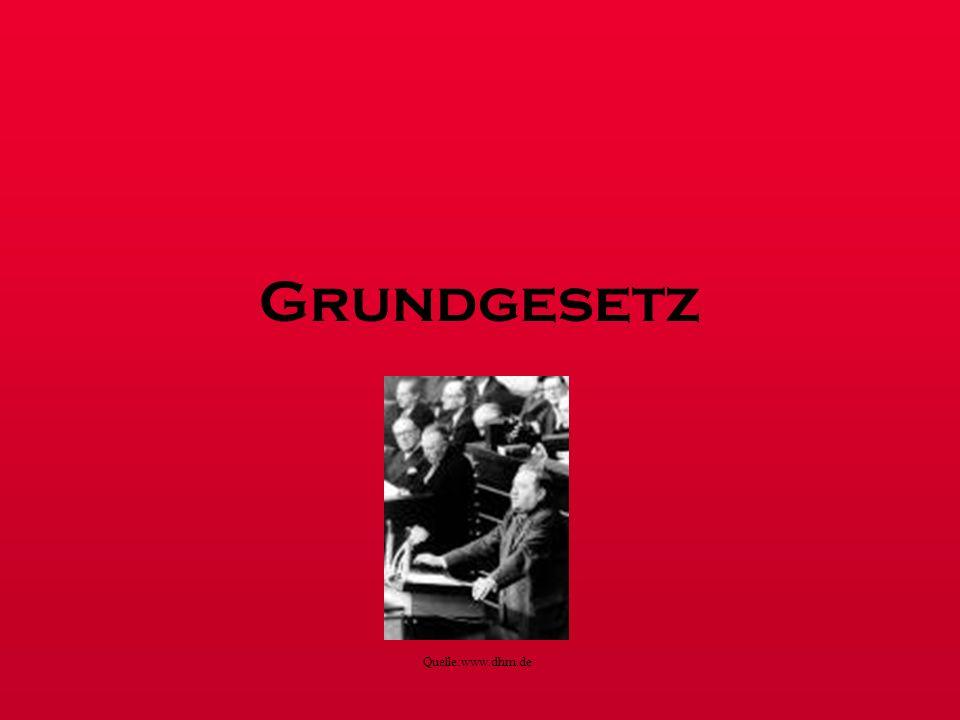 Grundgesetz Quelle:www.dhm.de