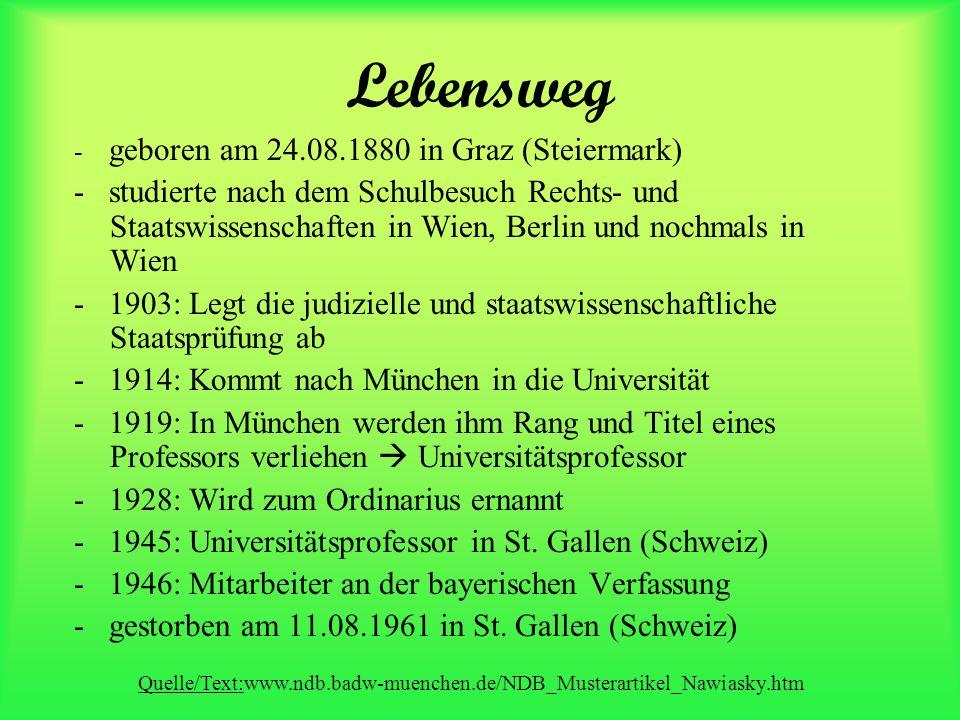 Lebensweg - geboren am 24.08.1880 in Graz (Steiermark)