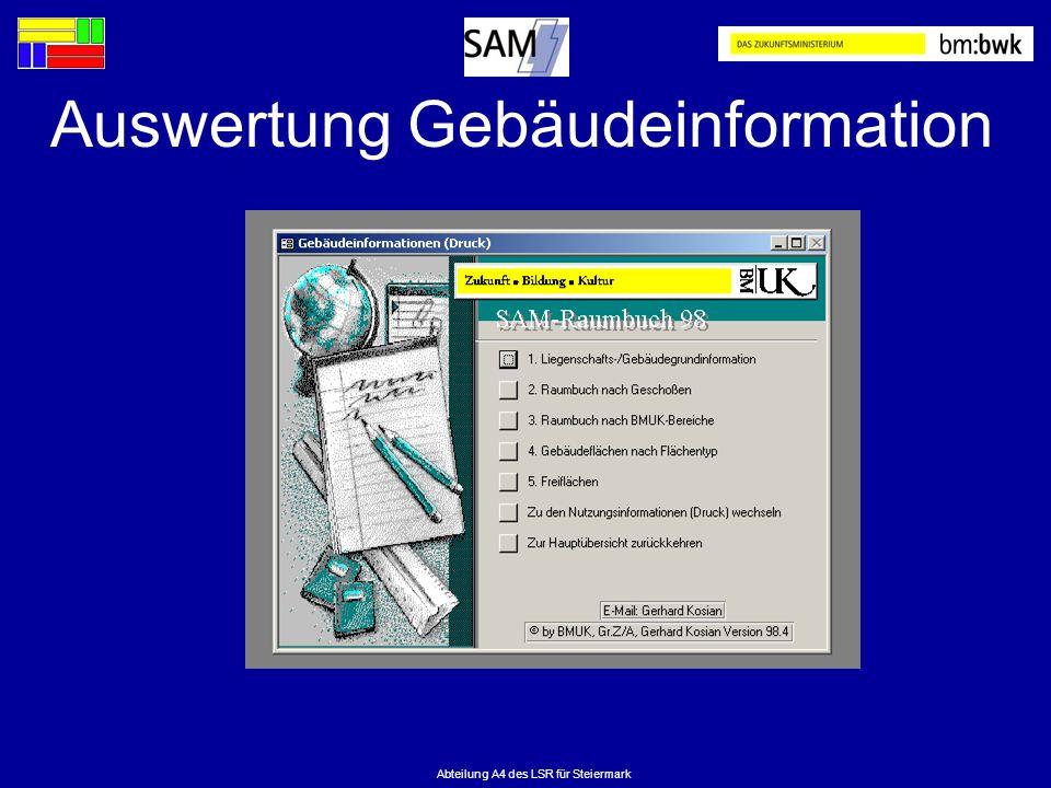 Auswertung Gebäudeinformation