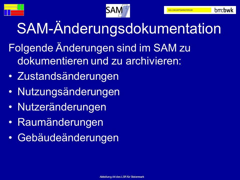 SAM-Änderungsdokumentation