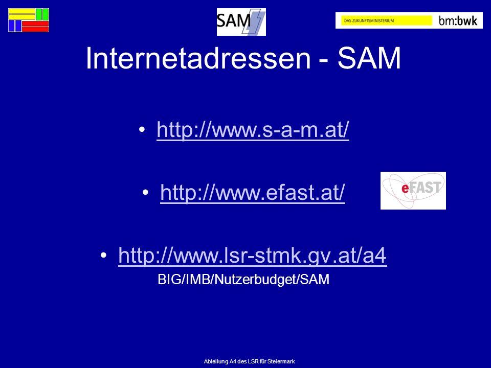 Internetadressen - SAM