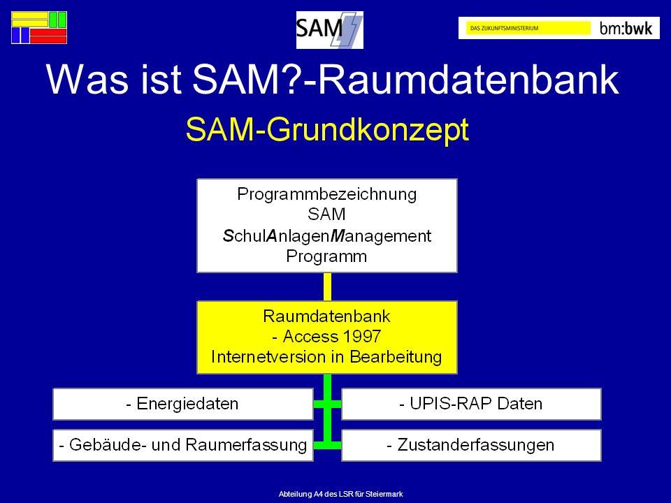 Was ist SAM -Raumdatenbank