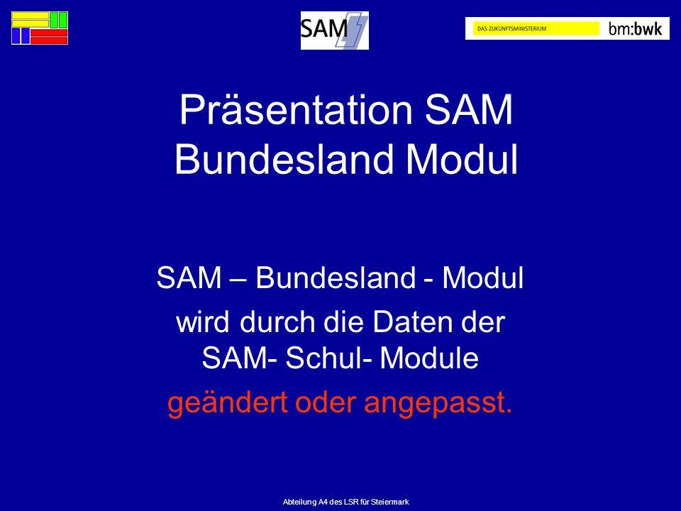 Präsentation SAM Bundesland Modul