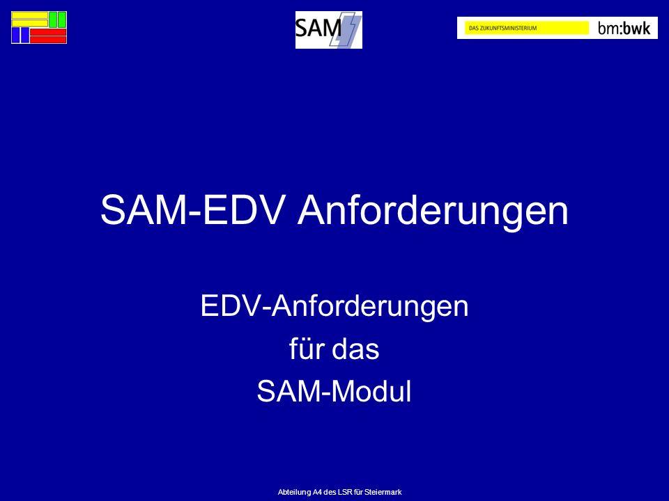 SAM-EDV Anforderungen