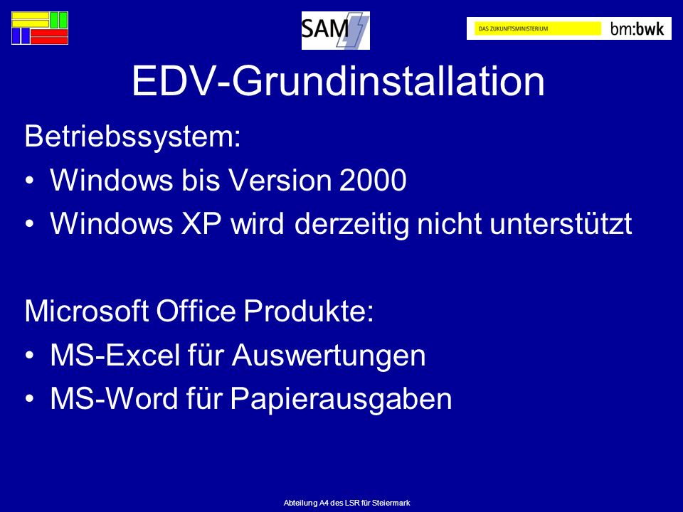 EDV-Grundinstallation