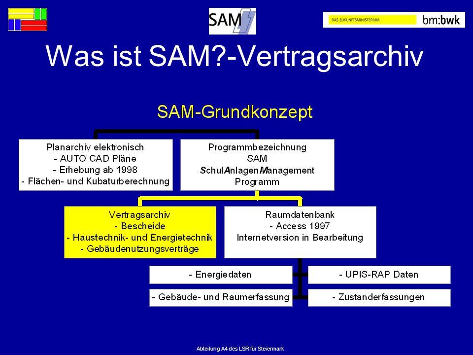 Was ist SAM -Vertragsarchiv